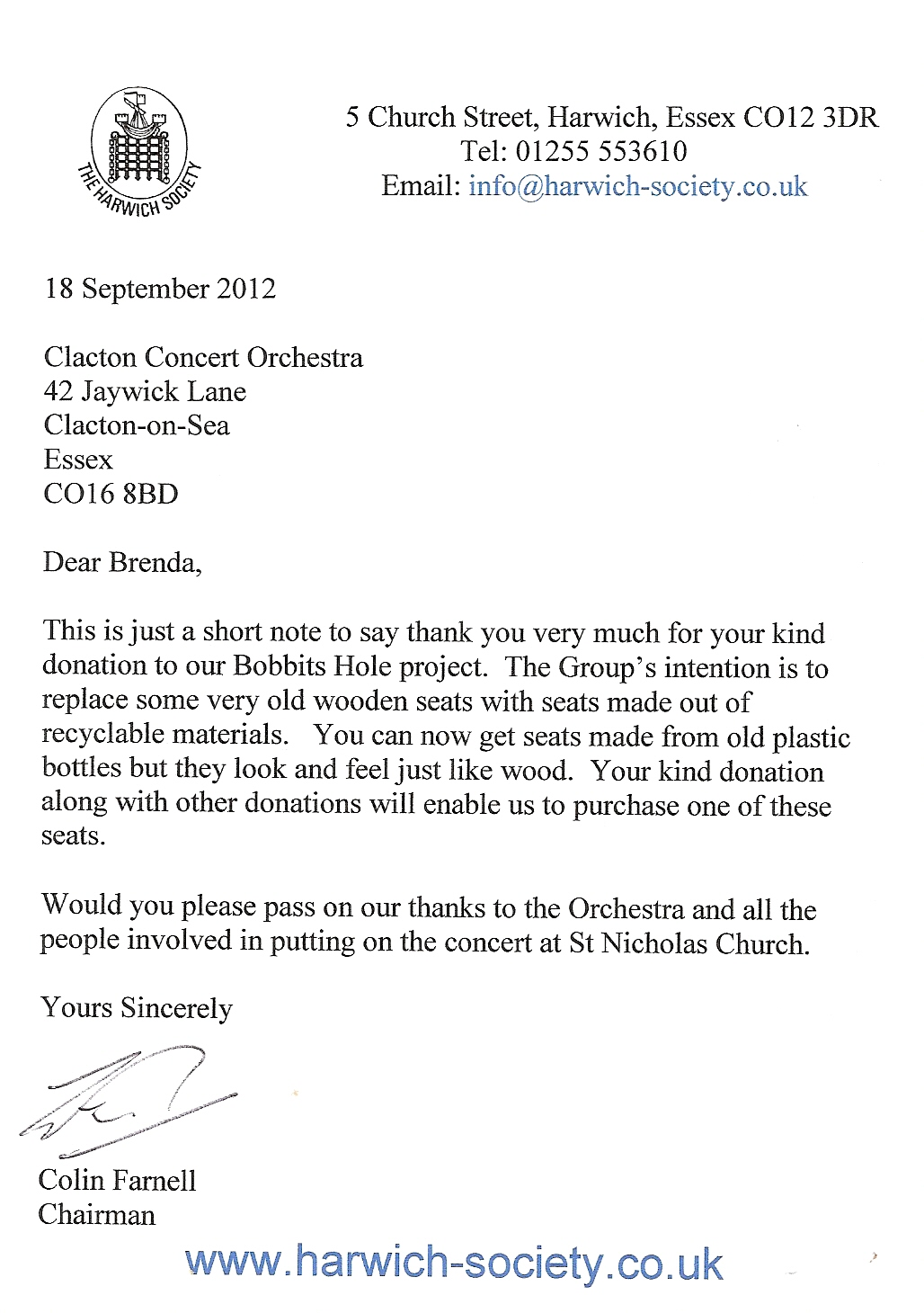 Thank You Letter For Musical Performance