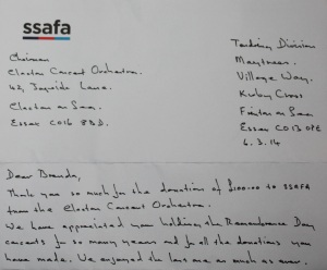 ssafa letter
